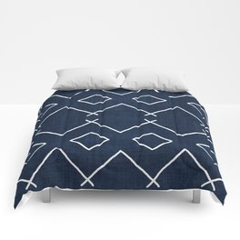 Bath in Navy Comforters