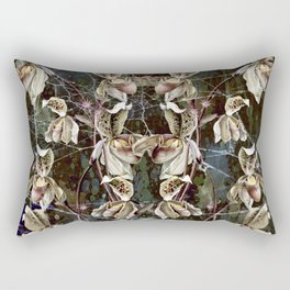 Orchids and Pink Spiders Rectangular Pillow