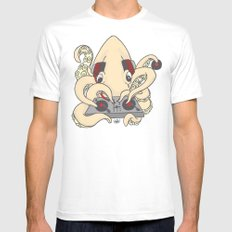 squiDJ Mens Fitted Tee White MEDIUM