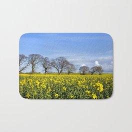 Sunny Delight (Landscape),OSR field in flower Bath Mat