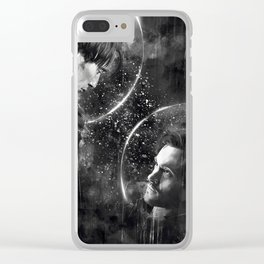 Call me across the universe Clear iPhone Case