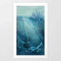 Earth-Birth - Ink wash painting Art Print