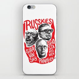 Russkies-Russian composers iPhone Skin