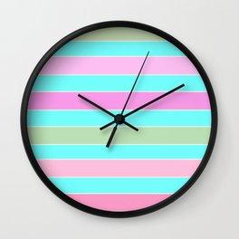 Leela 2 . turquoise Wall Clock