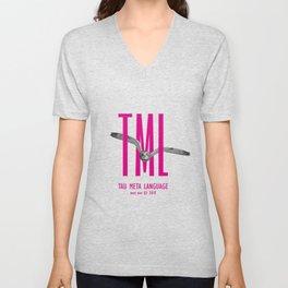 TML, Tau Meta Language Unisex V-Neck