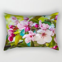 Pink apple blossom Rectangular Pillow