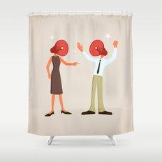 A Very Loud Argument Shower Curtain