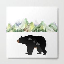 Wild And Free Metal Print