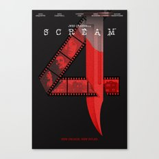 SCREAM 4 (Alternative Movie Poster) Canvas Print
