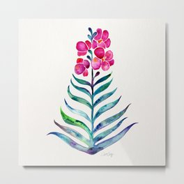 Blooming Orchid – Fuchsia & Indigo Palette Metal Print