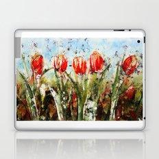 Tulips in Red . Batik Laptop & iPad Skin