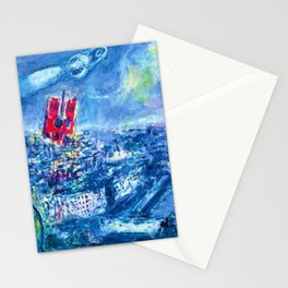 View of Paris by Marc Chagall Stationery Cards