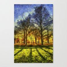 Greenwich Park London Sunset Art Canvas Print