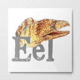E is for Eel Metal Print