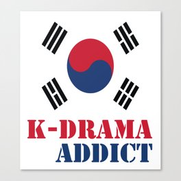 K-drama Addict Canvas Print