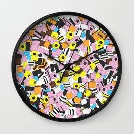 Lots of Liquorice Allsorts Wall Clock