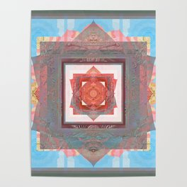Peace is my Passion Boho Bliss Sacred Geometry Mandala Poster