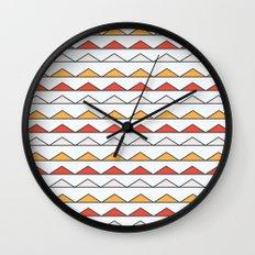 Hot Triangles  Wall Clock