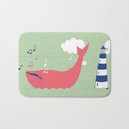 The Singing Whale Bath Mat
