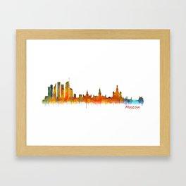 Moscow City Skyline art HQ v2 Framed Art Print