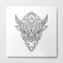 American Bison Zentagle Metal Print