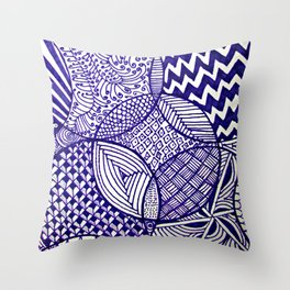 Funky Abstract Zendoodle Throw Pillow