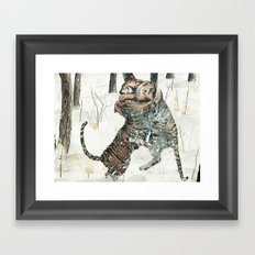 Tigers at Play Framed Art Print
