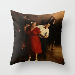 The Follow in Red Throw Pillow