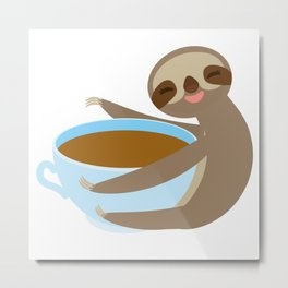 sloth & coffee 2 Metal Print