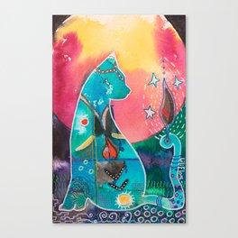 Super Cat - fantastic animal - by LiliFlore Canvas Print