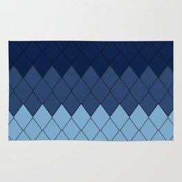Blue rombs Rug