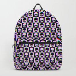 Glitch Checkered Skulls Pattern IV Backpack