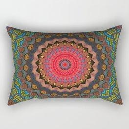 Basal Color Mandala 2 Rectangular Pillow