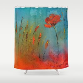 Flowers in the window Shower Curtain