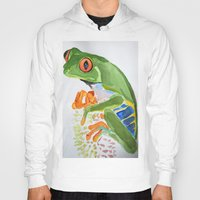 frog Hoodies featuring Frog by The Traveling Catburys