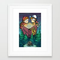 gravity falls Framed Art Prints featuring Gravity Falls by Dinolich