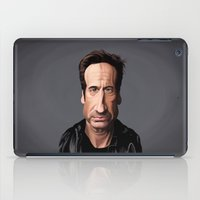 celebrity iPad Cases featuring Celebrity Sunday ~ David Duchovny by rob art | illustration