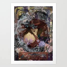 Black Lili -Arsenic- Art Print