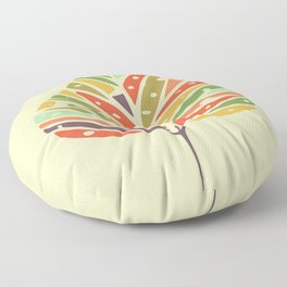 Tropical leaf summer pattern Floor Pillow