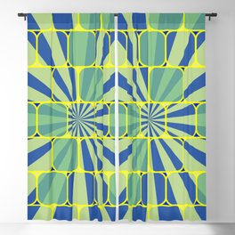 Abstract geometric blue Blackout Curtain