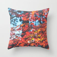 Lake Tahoe Leaves Throw Pillow