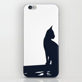 Black Cat  Sitting On the Fence iPhone Skin