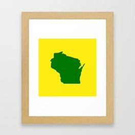Wisconsin Football Framed Art Print