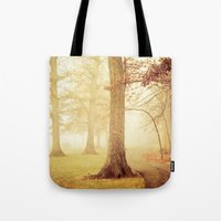 eddie vedder Tote Bags featuring I Heard Whispering in the Woods by Olivia Joy StClaire