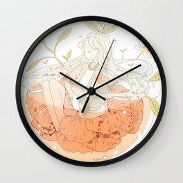 grapefruit honey tea. Wall Clock