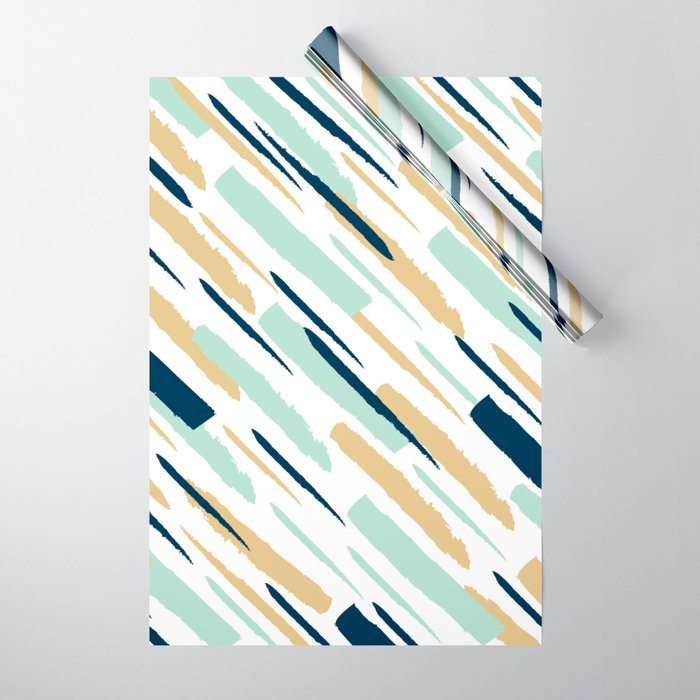 Diagonal strokes Wrapping Paper