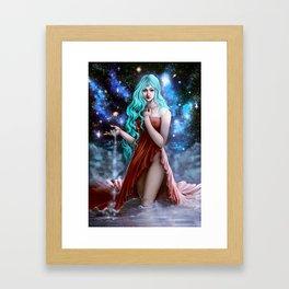 Space Goddess Framed Art Print
