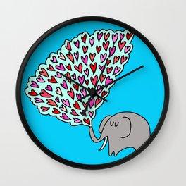 elephant loves Wall Clock