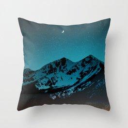 Mountains at night I // Boulder Colorado Throw Pillow