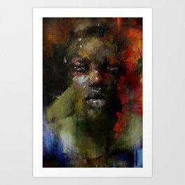 The Gospel singer Art Print